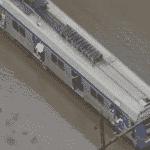 23.nov.2018 - Trem da linha Turquesa parado entre as estação Capuava e São Caetano por conta de alagamento - Captura de tela/Band