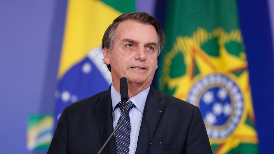 17.abr.2019 - Presidente da República, Jair Bolsonaro (PSL), durante celebração de Páscoa no Palácio do Planalto - Alan Santos/PR