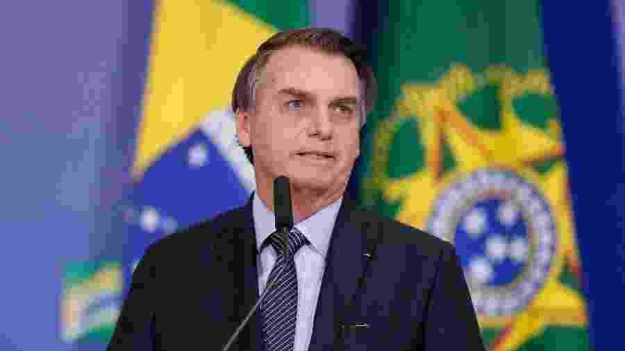 17.abr.2019 - Presidente Jair Bolsonaro durante celebração de Páscoa no Palácio do Planalto - Alan Santos/PR