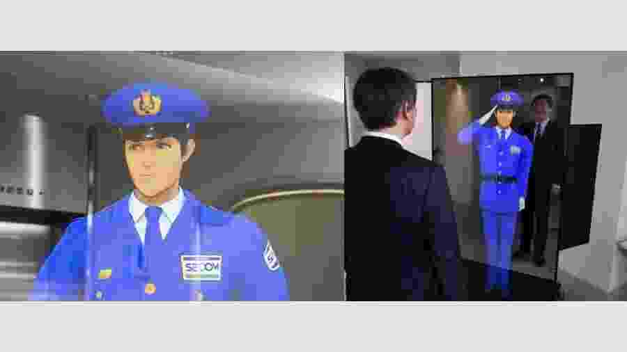 Vigilante consegue reconhecer pessoas, se expressar e acionar guardas humanos - Reprodução/Secom e Japantoday