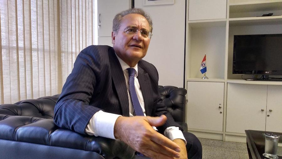 """""""O presidente deu uma de charlatão"""", disse Renan Calheiros, em entrevista à CNN Brasil. Senador apoia a CPI da covid - Eduardo Militão/UOL"""