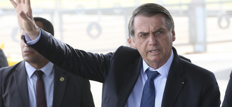 2.set.2019 - O presidente Jair Bolsonaro fala à imprensa no Palácio da Alvorada - Antonio Cruz - 2.set.2019/Agência Brasil