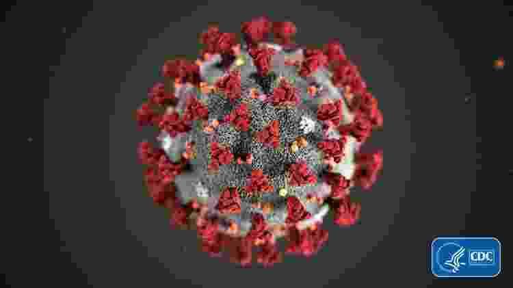 Essa é a aparência do coronavírus, de acordo com esta ilustração criada pelo Centro de Controle e Prevenção de Doenças dos Estados Unidos - CDC/Getty Images - CDC/Getty Images