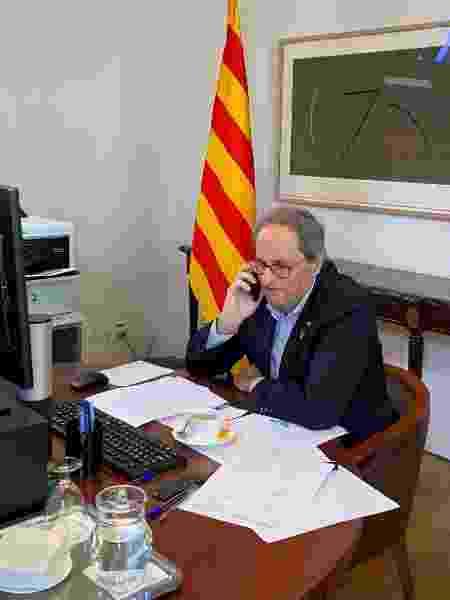 O separatista Quim Torra, presidente da Catalunha -