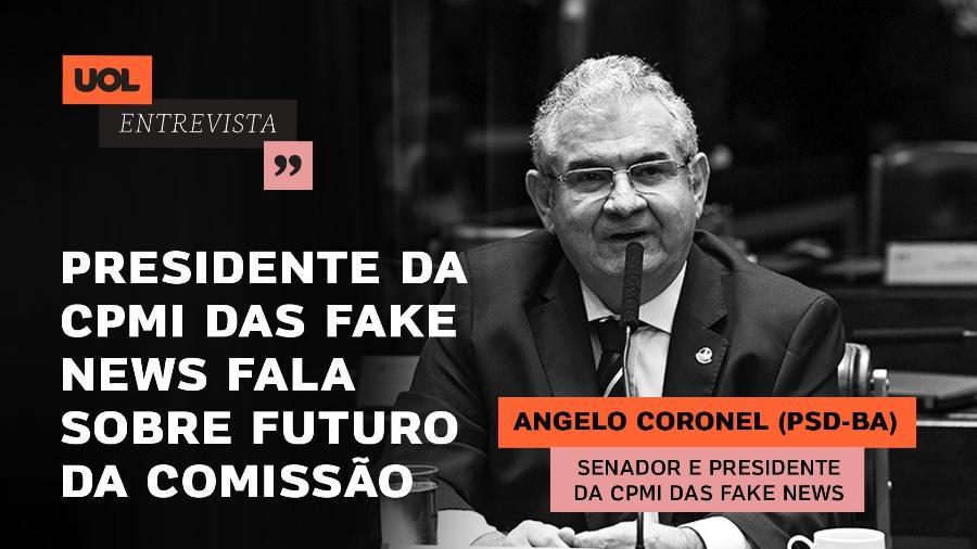 10.set.2019 - Senador Angelo Coronel (PSD-BA), que será entrevistado nesta quarta (29)  - Arte/UOL