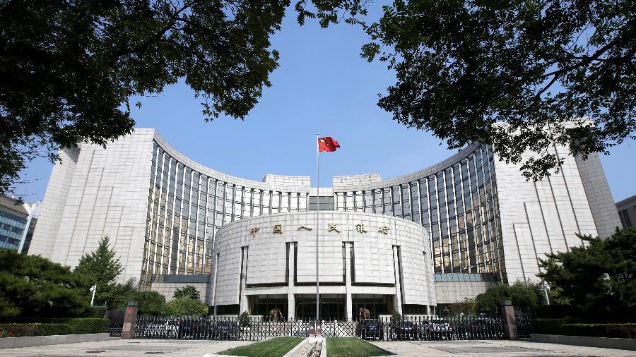 Sede do banco central da China em Pequim; O Ministério das Finanças prorrogará a isenção de tarifas para produtos importados dos EUA - Jason Lee
