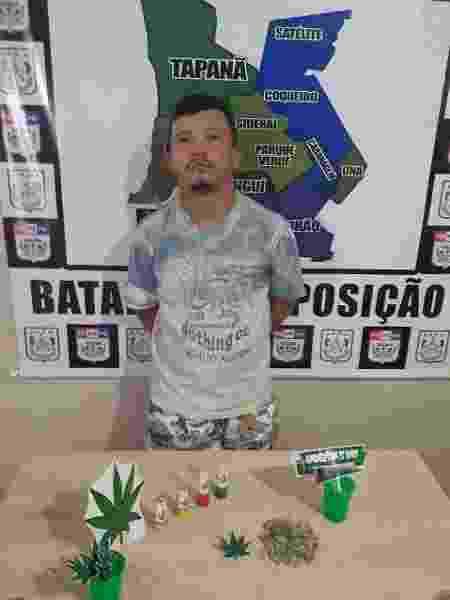 Anderson droga - Polícia Militar do PA/Divulgação - Polícia Militar do PA/Divulgação
