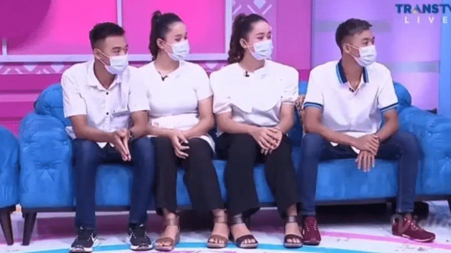 Casais ficaram famosos na Indonésia ao participar de programa de televisão - Reprodução/Trans TV