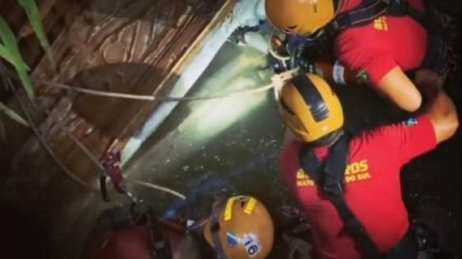 Bombeiros procuravam corpo de homem supostamente assassinado  - Divulgação/Corpo de Bombeiros