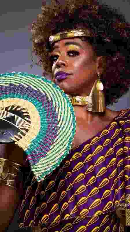 Koanza Auandê, interpretada por Sulivã Bispo, tem falas destemidas em defesa da religião - Clériston Alves - Clériston Alves
