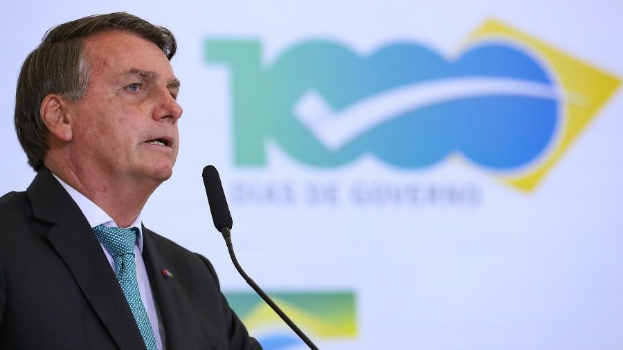 27 de setembro de 2021 - O presidente Jair Bolsonaro na cerimônia de 1.000 dias do governo - Marcos Corrêa/PR