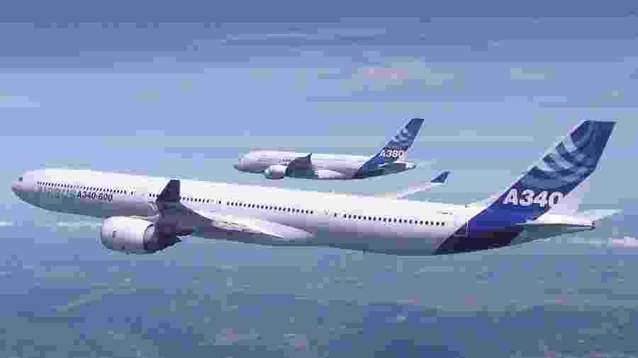 Airbus A340 e A380 nunca sofreram acidente - Divulgação