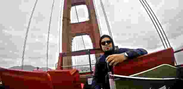 Onício Neto em San Francisco, nos EUA, uma das cidades onde foi divulgar o trabalho da Epitrack - Arquivo pessoal - Arquivo pessoal