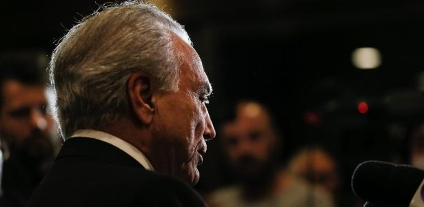 Presidente Michel Temer durante entrevista à imprensa brasileira em Tóquio