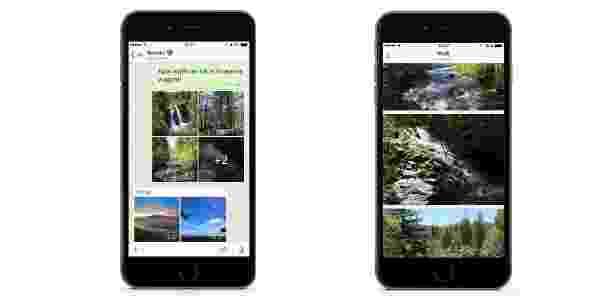 WhatsApp passa a ter galeria de fotos na versão para iOS - Divulgação