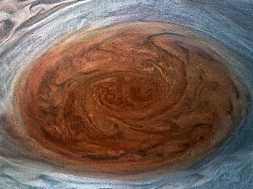 12.jul.2017 - Imagens da Grande Mancha Vermelha de Júpiter feitas pela sonda Juno
