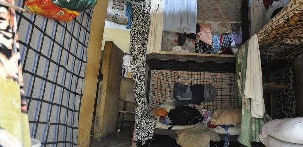 Cela de presídio onde houve rebelião em Aparecida de Goiânia
