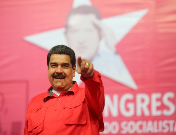 O presidente venezuelano, Nicolás Maduro, durante o Congresso Extraordinário do PSUV