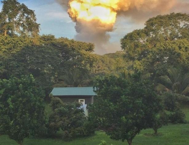 Fazenda de Fernanda havia sido construída próximo ao vulcão