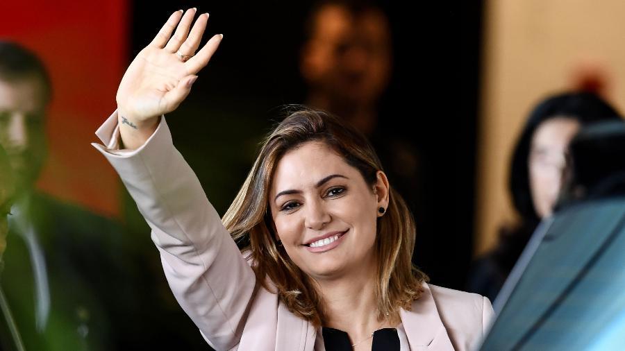 Michelle Bolsonaro, mulher do presidente eleito, Jair Bolsonaro - Evaristo Sá/AFP/Folhapress