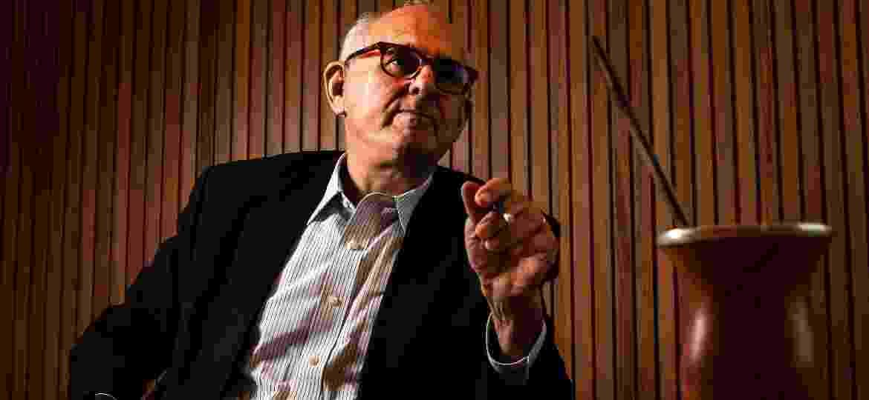 Nelson Jobim, ex-presidente do STF, na sede do banco BTG Pactual, em São Paulo - Fernando Moraes/UOL