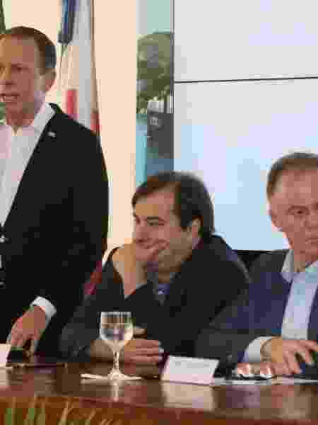 Governador João Doria e o presidente da Câmara, o deputado Rodrigo Maia (DEM-RJ) - Divulgação