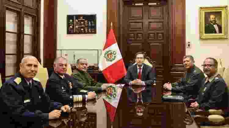 Vizcarra se reúne com representantes das Forças Armadas e da polícia - Presidência do Peru