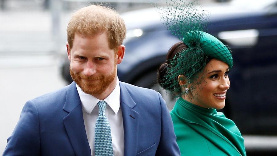 Príncipe Harry e sua esposa Meghan em Londres -