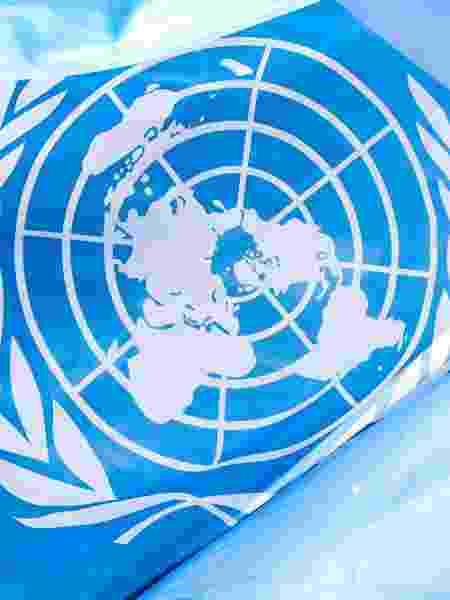 Bandeira da ONU (Organização das Nações Unidas), que abriu hoje a sua 75ª Assembleia Geral - Getty Images