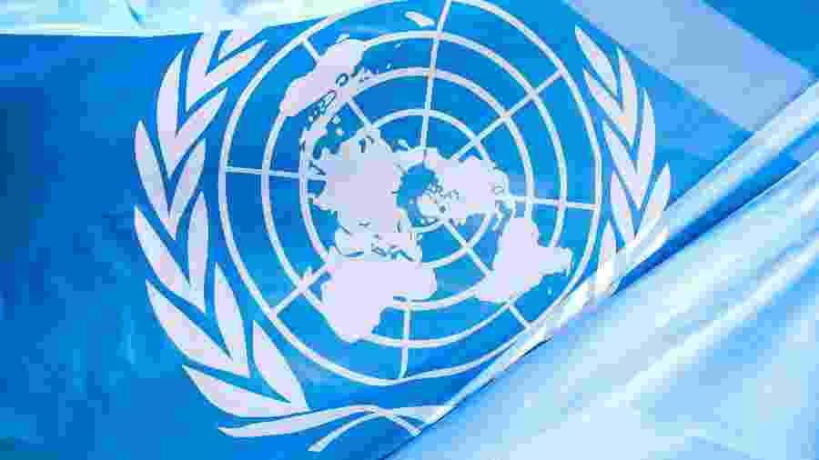 Bandeira da ONU (Organização das Nações Unidas) - Getty Images