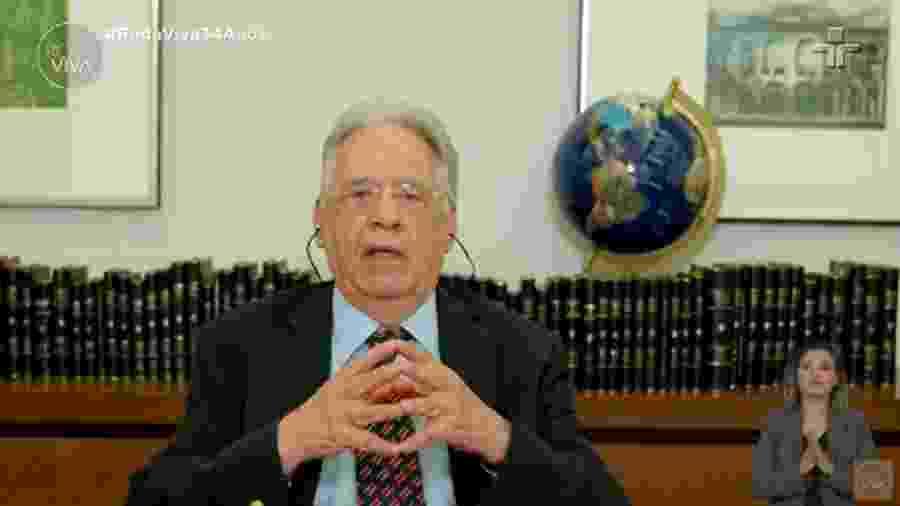 """O ex-presidente Fernando Henrique Cardoso participa do """"Roda Viva"""" - Reprodução/TV Cultura"""