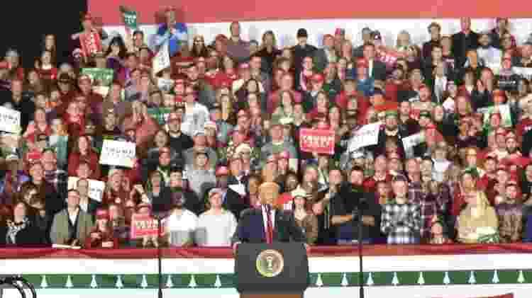 Trump tem sua principal base de apoio entre os eleitores brancos - Getty Images - Getty Images