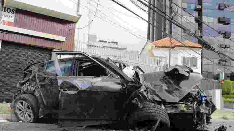Acidente na avenida General Ataliba Leonel, na zona norte de São Paulo, deixou uma pessoa morta e uma ferida - Willian Moreira/FuturaPress/Estadão Conteúdo