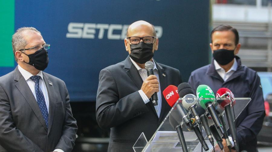Dimas Covas culpa postura do governo federal pelo atraso de insumos da CoronaVac - Sergio Andrade/Governo de São Paulo