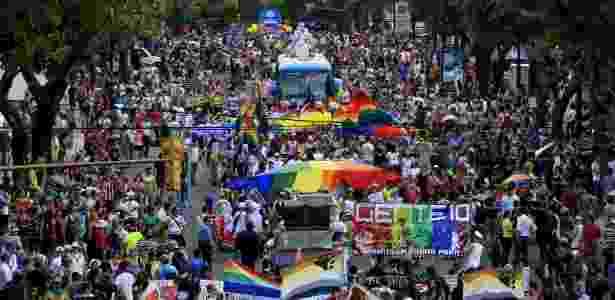 Ativistas participam de Parada do Orgulho Gay em San José, na Costa Rica, em 2015 - Juan Carlos Ulate/Reuters