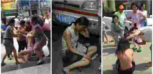 Meio estranha essa moda chinesa de lavar a roupa suja em plena rua, não? - Reprodução/Youtube