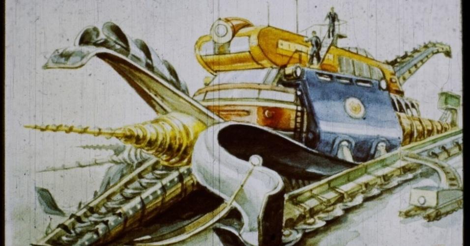 16.jan.2017 - Os soviéticos são capazes de construir cidades subterrâneas graças a potentes máquinas perfuradoras.