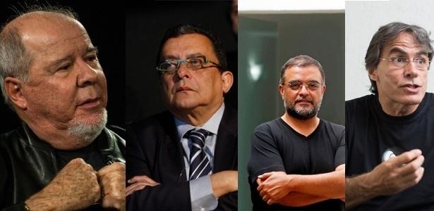 Duda Mendonça (à esq.), João Santana, Paulo Vasconcelos e Renato Pereira foram citados nas delações da Odebrecht