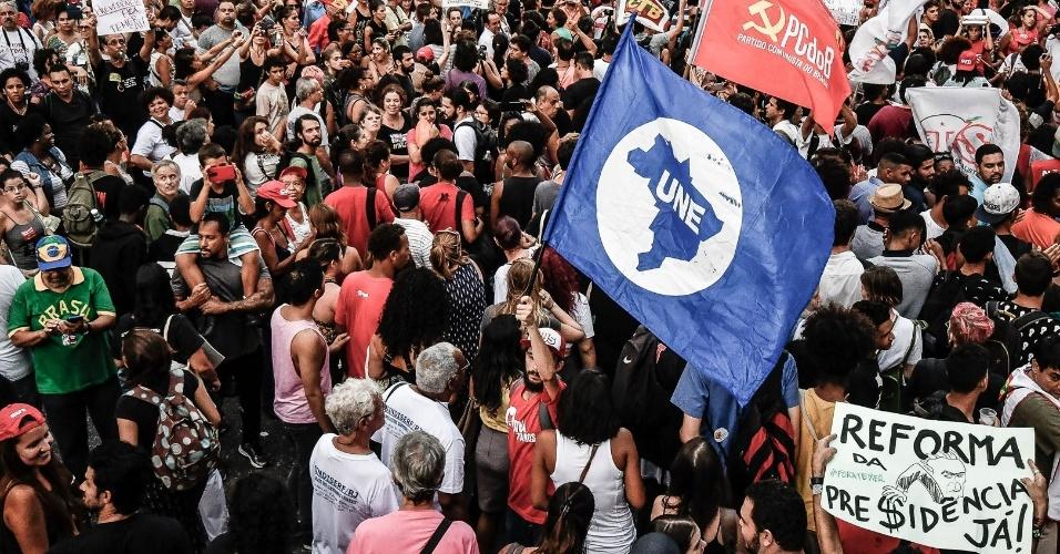 Estudantes do Rio e de todo o país foram às ruas contra mudanças não só na educação, mas também nas regras para aposentadoria