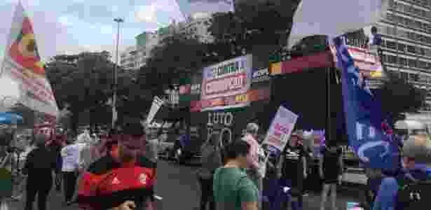 Ato contra o governo Temer em Copacabana - Hanrrikson Andrade/UOL