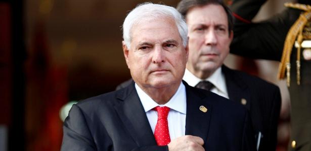 8.jun.2013 - O então presidente do Panamá Ricardo Martinelli