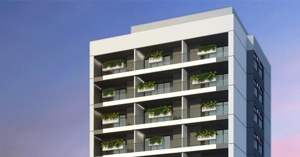 Imagem ilustrativa da fachada do prédio da construtora Vitacon, em São Paulo