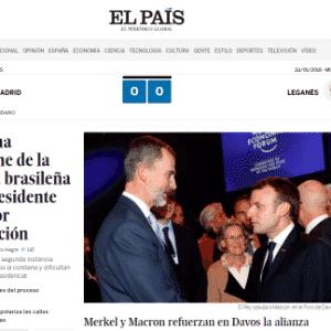 """Manutenção da condenação de Lula virou manchete no espanhol """"El País"""" - Reprodução"""