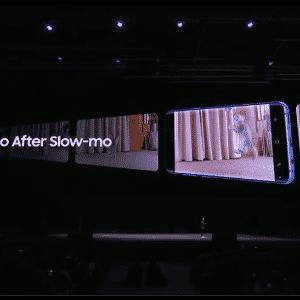 A câmera lenta do S9 e do S9 Plus captura 960 quadros por segundo. - Reprodução/Samsung