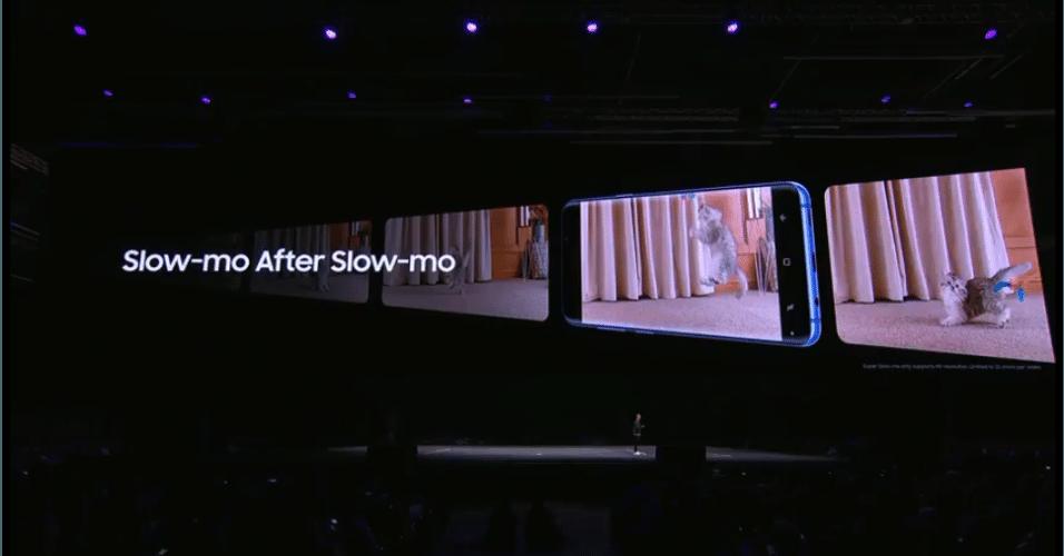 A câmera lenta do S9 e do S9 Plus captura 960 quadros por segundo.