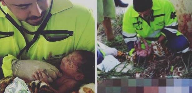 Equipe médica foi surpreendida pelo choro do bebê   - Arteris/Divulgação