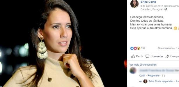 Erika Lima Corte foi encontrada morta por sua colega de quarto - Reprodução/Facebook