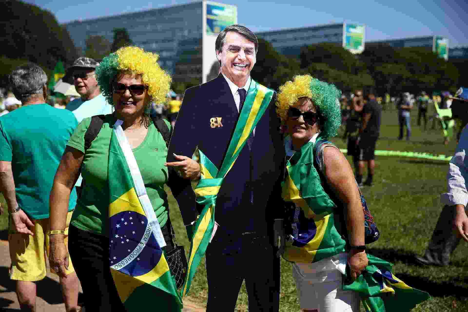 Manifestação a favor do governo em Brasília - Pedro Ladeira/Folhapress
