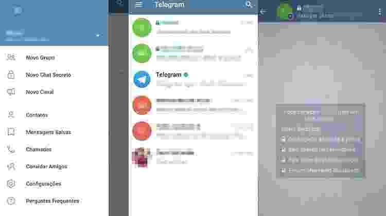 Telas do Telegram - Reprodução - Reprodução