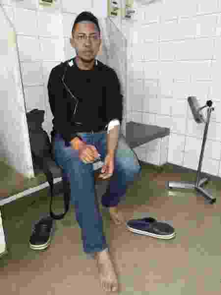 Luiz Paulo Rodrigues no hospital - Arquivo pessoal - Arquivo pessoal